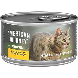 American Journey Minced Chicken & Tuna Recipe in Gravy Grain-Free Canned Cat Food