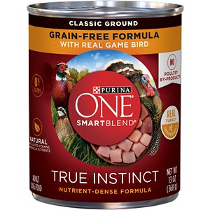 Purina ONE SmartBlend True Instinct Classic Ground with Real Game Bird Canned Dog Food