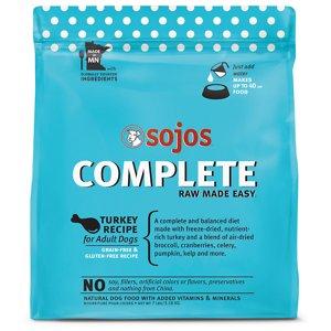 Sojos Complete Turkey Recipe Adult Grain-Free Freeze-Dried Raw Dog Food