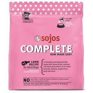 Sojos Complete Lamb Recipe Adult Grain-Free Freeze-Dried Raw Dog Food