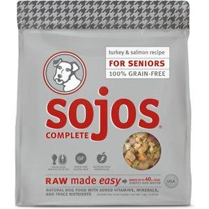 Sojos Complete Turkey & Salmon Recipe Senior Grain-Free Freeze-Dried Raw Dog Food