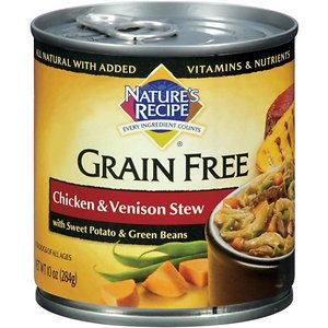 Nature's Recipe Grain-Free Chicken & Venison Stew Canned Dog Food