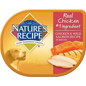 Nature's Recipe Chicken & Wild Salmon Recipe in Broth Wet Dog Food