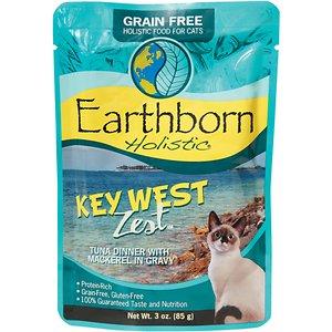Earthborn Holistic Key West Zest Tuna Dinner with Mackerel in Gravy Grain-Free Cat Food Pouches