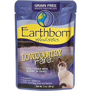 Earthborn Holistic Lowcountry Fare Tuna Dinner with Shrimp in Gravy Grain-Free Cat Food Pouches