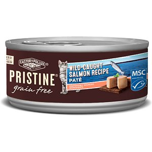 Castor & Pollux PRISTINE Grain-Free Wild-Caught Salmon Recipe Pate Canned Cat Food
