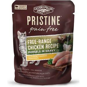 Castor & Pollux PRISTINE Grain-Free Free-Range Chicken Recipe Morsels in Gravy Cat Food Pouches