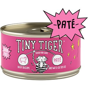 Tiny Tiger Pate Beef Recipe Grain-Free Canned Cat Food