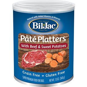 Bil-Jac Pate Platters with Beef & Sweet Potatoes Canned Dog Food