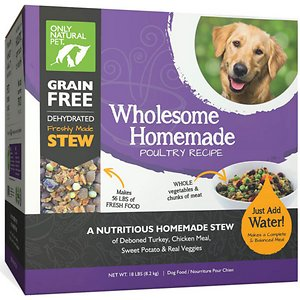 Only Natural Pet Wholesome Homemade Poultry Recipe Grain-Free Dehydrated Dog Food