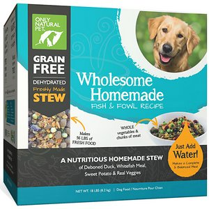 Only Natural Pet Wholesome Homemade Fish & Fowl Recipe Grain-Free Dehydrated Dog Food