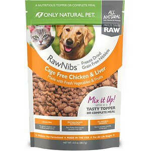 Only Natural Pet RawNibs Chicken & Liver Grain-Free Freeze-Dried Dog & Cat Food