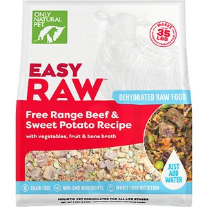 Only Natural Pet EasyRaw Beef & Sweet Potato Raw Grain-Free Dehydrated Dog Food