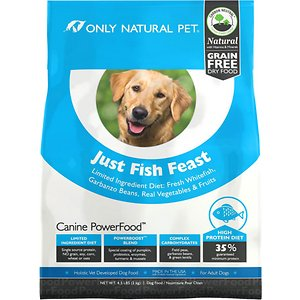 Only Natural Pet Canine PowerFood Just Fish Feast Limited Ingredient Grain-Free Dry Dog Food
