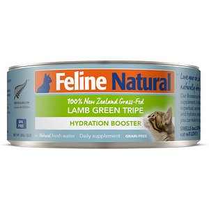 Feline Natural Lamb Green Tripe Grain-Free Hydration Booster Canned Cat Food Supplement