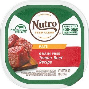 Nutro Grain-Free Tender Beef Recipe Adult Pate Dog Food Trays