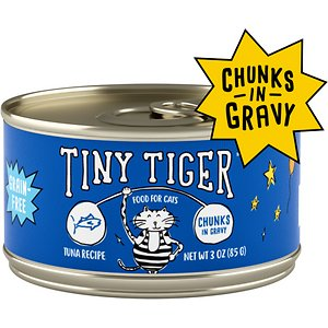 Tiny Tiger Chunks in Gravy Tuna Recipe Grain-Free Canned Cat Food