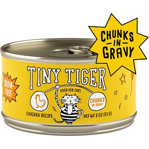 Tiny Tiger Chunks in Gravy Chicken Recipe Grain-Free Canned Cat Food