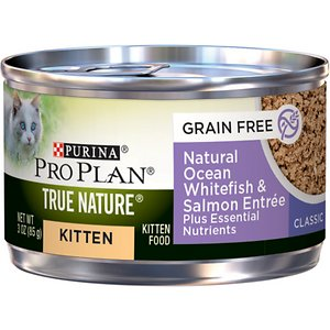 Purina Pro Plan True Nature Natural Ocean Whitefish & Salmon Grain-Free Kitten Formula Canned Cat Food