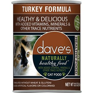 Dave's Pet Food Naturally Healthy Grain-Free Turkey Formula Canned Cat Food