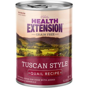 Health Extension Grain-Free Tuscan Style Quail Recipe Canned Dog Food