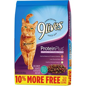 9 Lives Protein Plus with Chicken & Tuna Flavors Dry Cat Food