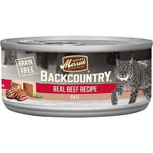 Merrick Backcountry Grain-Free Beef Pate Canned Cat Food