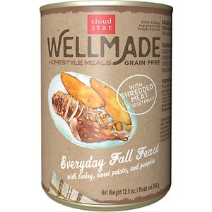 Cloud Star WellMade Homestyle Meals Everyday Fall Feast With Turkey Recipe Grain-Free Canned Dog Food
