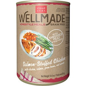 Cloud Star WellMade Homestyle Meals Salmon-Stuffed Chicken Recipe Grain-Free Canned Dog Food