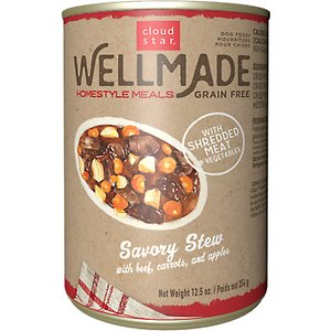 Cloud Star WellMade Homestyle Meals Savory Stew With Beef Recipe Grain-Free Canned Dog Food