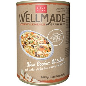 Cloud Star WellMade Homestyle Meals Slow Cooker Chicken Recipe Grain-Free Canned Dog Food