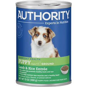 Authority Lamb & Rice Entree Puppy Ground Canned Dog Food
