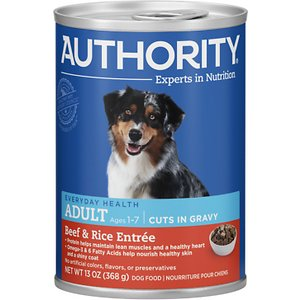 Authority Beef & Rice Entree Adult Cuts in Gravy Canned Dog Food