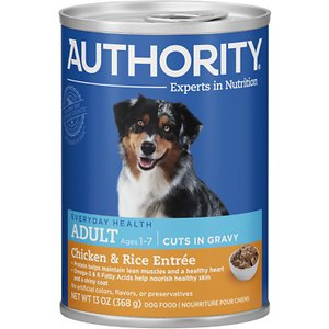 Authority Chicken & Rice Entree Adult Cuts in Gravy Canned Dog Food