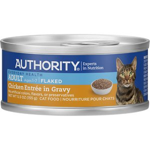 Authority Chicken Entree in Gravy Adult Flaked Canned Cat Food