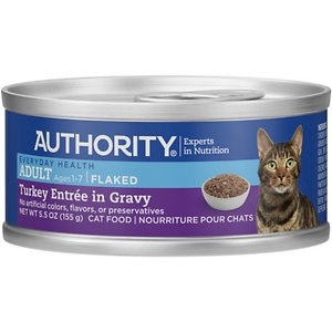 Authority Turkey Entree in Gravy Adult Flaked Canned Cat Food