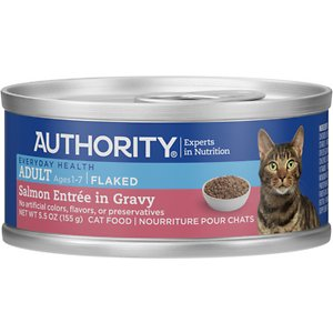 Authority Salmon Entree in Gravy Adult Flaked Canned Cat Food