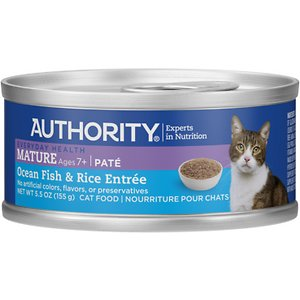 Authority Ocean Fish & Rice Entree Mature Pate Canned Cat Food