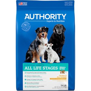 Authority Small Bites Chicken & Rice Formula Dry Dog Food