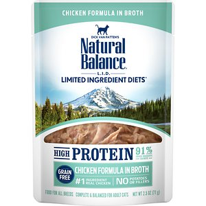 Natural Balance L.I.D. Limited Ingredient Diets High Protein Chicken Formula in Broth Wet Cat Food