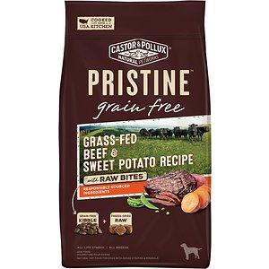 Castor & Pollux Pristine Grain-Free Grass-Fed Beef & Sweet Potato Recipe with Raw Bites Dry Dog Food