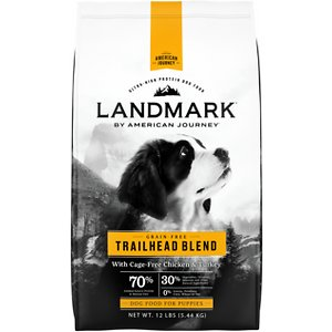American Journey Landmark Trailhead Blend with Cage-Free Chicken & Turkey Grain-Free Puppy Dry Dog Food