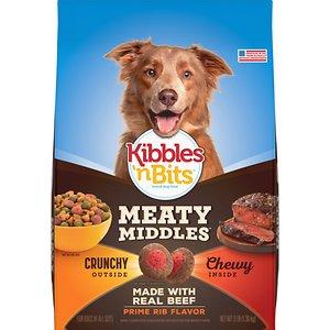 Kibbles 'n Bits Meaty Middles Prime Rib Flavor Dry Dog Food