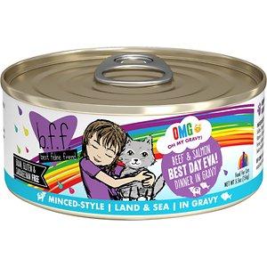 BFF OMG Best Day Eva! Beef & Salmon Dinner in Gravy Grain-Free Canned Cat Food