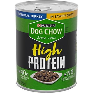 Dog Chow High Protein Turkey in Savory Gravy Canned Dog Food