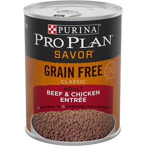 Purina Pro Plan Savor Classic Beef & Chicken Entree Grain-Free Canned Dog Food