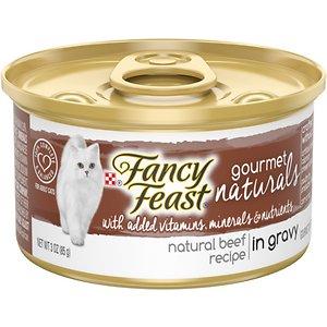 Fancy Feast Gourmet Naturals Beef Recipe in Gravy Canned Cat Food
