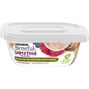 Purina Beneful Superfood Blend With Lamb & Trout in Sauce Wet Dog Food
