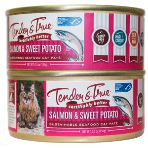 Tender & True Limited Ingredient Salmon & Sweet Potato Recipe Grain-Free Wet Cat Food
