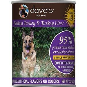 Dave's Pet Food 95% Premium Turkey & Turkey Liver Grain-Free Recipe Canned Dog Food